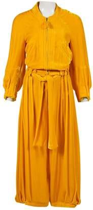 Sonia Rykiel Yellow Velvet Jumpsuits
