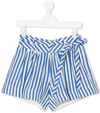 MonnaLisa belted striped shorts