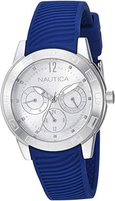 Nautica Men's 'Long Beach Collection' Quartz Stainless Steel and Silicone Casual Watch