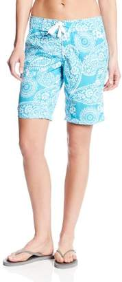 Kanu Surf Women's UPF 50+ Quick Dry Active Prints I Swim Boardshort