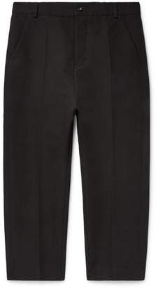 Rick Owens Slim-Fit Cotton-Blend Twill Trousers - Men - Black