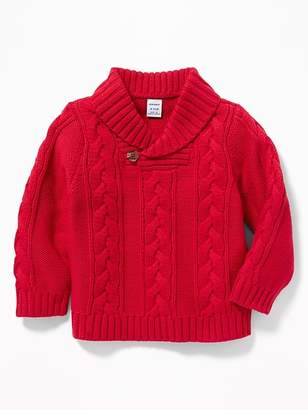 Old Navy Cable-Knit Shawl-Collar Sweater for Baby
