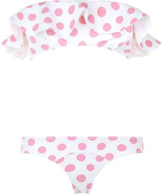 Lisa Marie Fernandez Natalie Polka Dot Ruffle Bikini