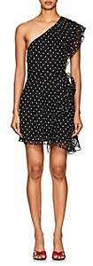 FiveSeventyFive Women's Star-Print Crepe One-Shoulder Minidress - Black