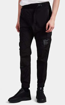 Siki Im Men's Belted Cargo Jogger Pants - Black