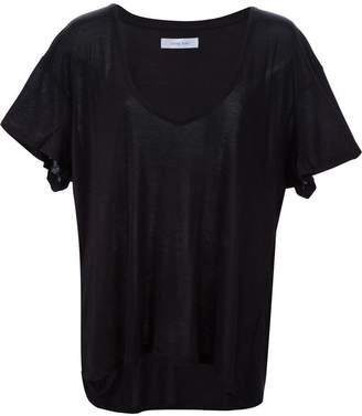 Anine Bing deep v-neck T-shirt