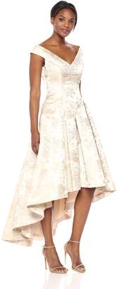 Eliza J Women's Floral High-Low Gown