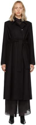 The Row Black Toomana Coat