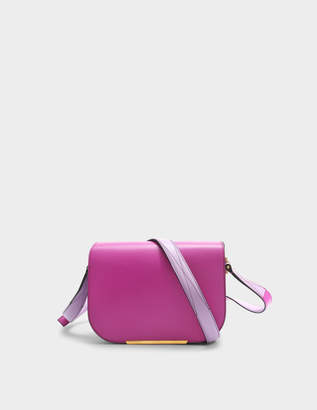 Lancel Bianca Saddle Bag S in Cyclamen and Lilac Smooth Leather