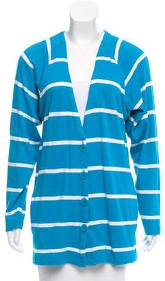 Christian Dior Striped Knit Cardigan
