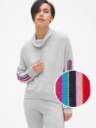 Gap Side Stripe Funnel-Neck Pullover Sweater