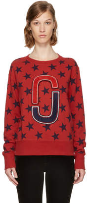Marc Jacobs Red 90s Star Sweatshirt