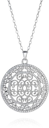 Hendrikka Waage Large Baron Sterling Silver Necklace With White Zirconia Stones