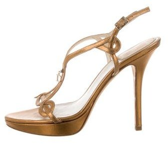 Christian Dior Metallic Platform Sandals