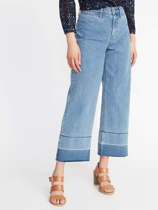 Old Navy High-Rise Wide-Leg Raw-Edge Jeans for Women