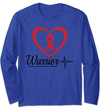 Heart Disease Warrior Health Long Sleeve T Shirt