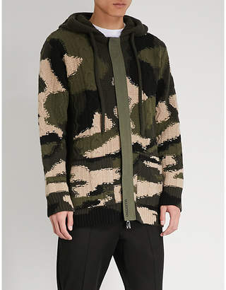 Valentino Camouflage knitted cardigan