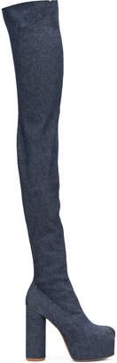 Vetements Denim Cotton Boots