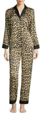 Kate Spade New York Animal Print Pajamas with Sleep Mask