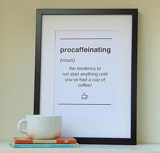 Little Bird Designs Dictionary Style Coffee Quote Print
