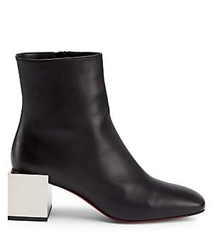 Christian Louboutin Women's Tre Fiak Block-Heel Leather Ankle Boots