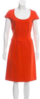 Diane von Furstenberg Domino Cap Sleeve Midi Dress