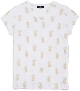 Rails Girls' Carlyn Glitter-Pineapple-Print Tee