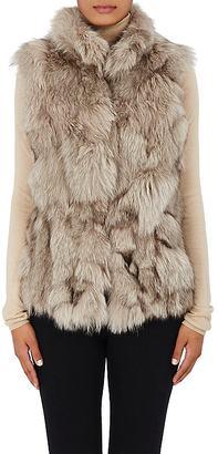 Barneys New York Women's Fur Vest-GREY $1,495 thestylecure.com