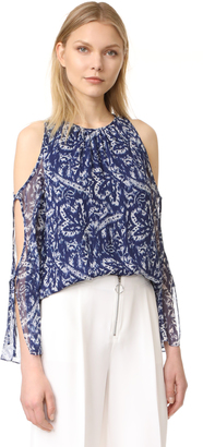 Ramy Brook Brush Stroke Printed Norma Blouse $325 thestylecure.com