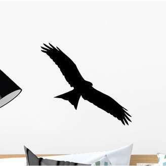 Wallmonkeys LLC Bird Prey Wall Decal by Wallmonkeys Peel and Stick Graphic (12 in W x 11 in H) WM184325