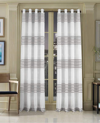 "J Queen New York Freeport 50"" x 63"" Stripe Grommet Curtain Panel"
