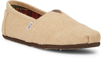 Toms Classic Natural Burlap Slip-On Sneaker