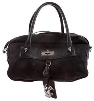 Marc Jacobs Leather-Trimmed Shoulder Bag Black Leather-Trimmed Shoulder Bag