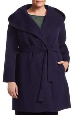 Marina Rinaldi Marina Rinaldi, Plus Size Nuvola Belted Wool Coat