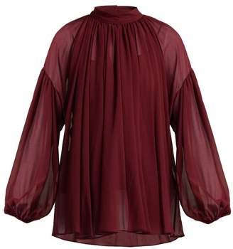 Stella McCartney Silk Georgette Blouse - Womens - Burgundy