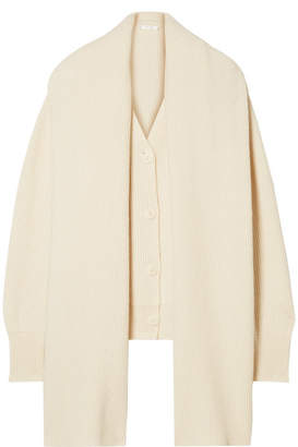 The Row Scarletta Oversized Cashmere Cardigan - Ivory