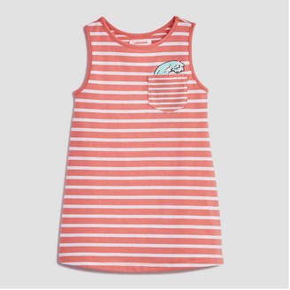 Joe Fresh Baby Girls Sleeveless Stripe Pocket Dress