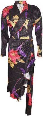 Dodo Bar Or Floral Wrapped Effect Dress