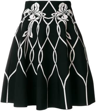 Alexander McQueen high waisted knitted skirt