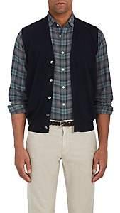 Fioroni Men's Virgin Wool-Cashmere Sweater Vest - Blue