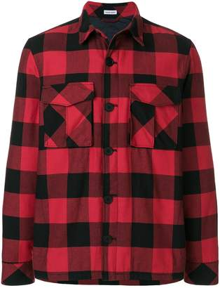 Tomas Maier chequer plaid field jacket