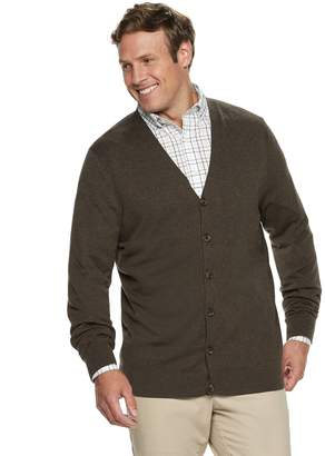 Croft & Barrow Big & Tall Classic-Fit 12gg V-Neck Button-Front Cardigan