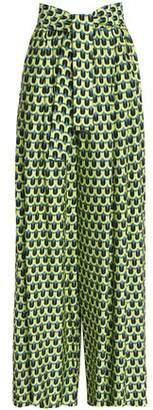 Tome Printed Crepe Wide-Leg Pants