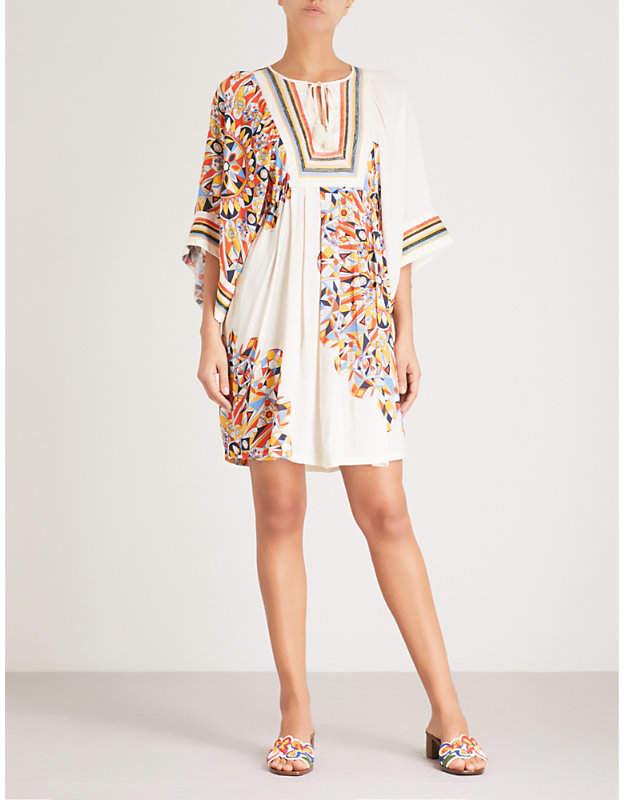 Kaleidoscope woven tunic dress