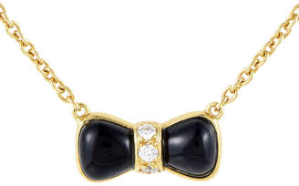 Van Cleef & Arpels Heritage  18K 0.15 Ct. Tw. Diamond & Onyx Necklace