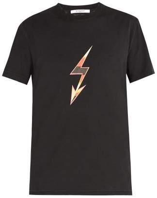 Givenchy Lightning Bolt Arrow Print Cotton T Shirt - Mens - Black