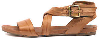Django & Juliette New Jobby Tan Womens Shoes Casual Sandals Sandals Flat