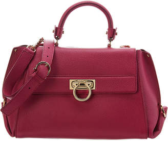 Salvatore Ferragamo Sofia Leather Top Handle Tote