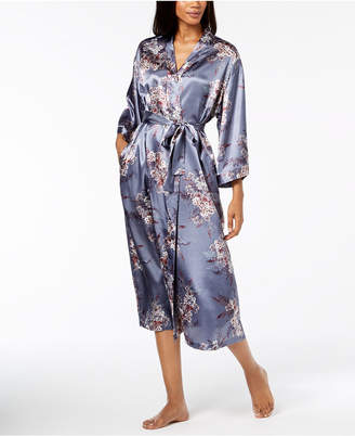 Thalia Sodi Printed Woven Long Wrap Robe, Created for Macy's