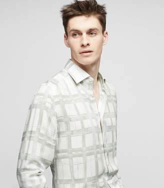 Reiss CATHCART CHECK PRINTED SHIRT White
